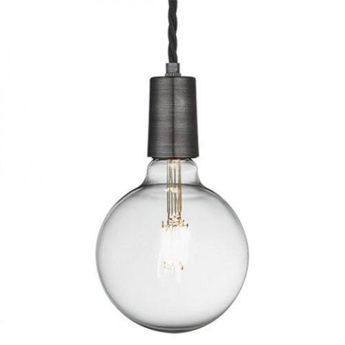 Vintage Sleek Edison 1 - Wire Pendant - Pewter