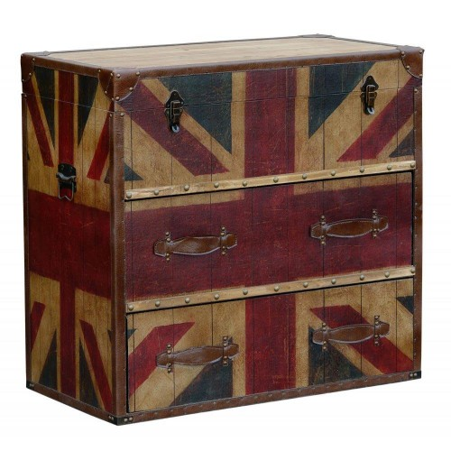 London Calling Retro Industrial Chest