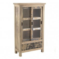 Piccadilly Industrial Style Wood Glass Cabinet