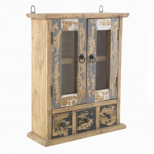 Piccadilly Industrial Style Wood Wall Cabinet