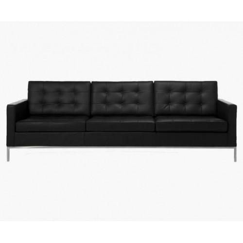 Le Bauhaus 3 Seater Sofa - Black Premium Leather