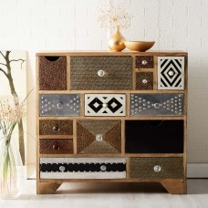 Sorio Upcycled Industrial Multi Drawer Chest