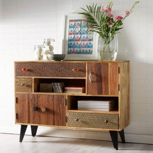 Sorio Upcycled Industrial Small Sideboard