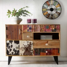 Sorio Upcycled Industrial Large Sideboard